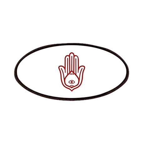 Red Hamsa Patches