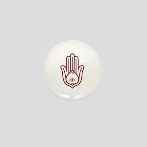 Red Hamsa Mini Button