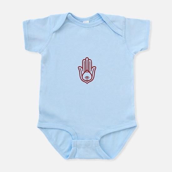 Red Hamsa Infant Bodysuit