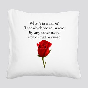 Call a Rose Square Canvas Pillow