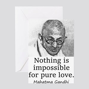 Nothing Is Impossible - Mahatma Gandhi Greeting Ca