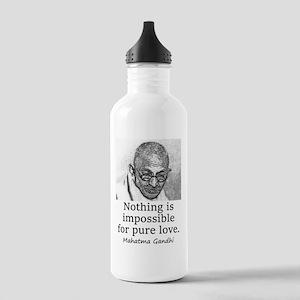 Nothing Is Impossible - Mahatma Gandhi Water Bottl