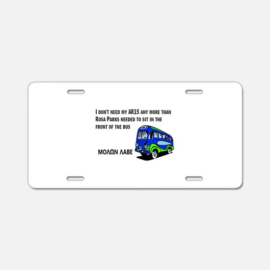 Rosa Aluminum License Plate