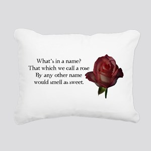 Whats in a Name? Rectangular Canvas Pillow