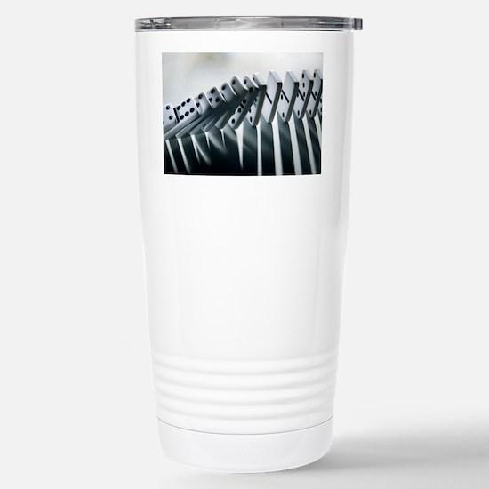 Falling dominoes - Stainless Steel Travel Mug
