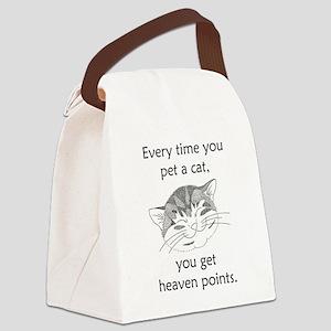 Cat Heaven Points Canvas Lunch Bag