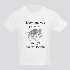 Cat Heaven Points Kids Light T-Shirt
