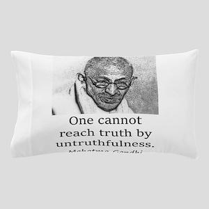 One Cannot Reach Truth - Mahatma Gandhi Pillow Cas