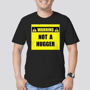 WARNING: Not A Hugger Men's Fitted T-Shirt (dark)
