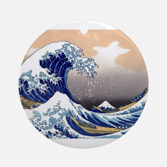 The Great Wave off Kanagawa Ornament (Round)