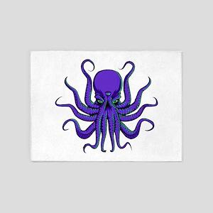 All seeing Octopus purple 5'x7'Area Rug