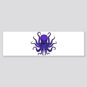 All seeing Octopus purple Sticker (Bumper)