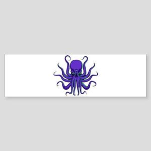 All seeing Octopus purple Sticker (Bumper)