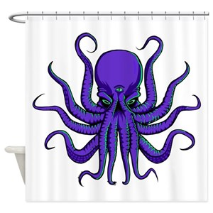 Psychedelic Doodle Milk Third Eye Shower Curtains