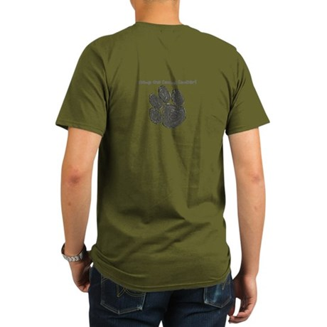Stomp out Canine Cancer Organic Men's T-Shirt (dar