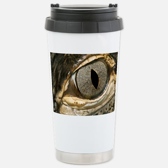 American alligator eye - Stainless Steel Travel Mu