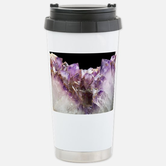 Amethyst crystals - Stainless Steel Travel Mug