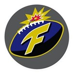 The F-Bomb Round Car Magnet