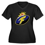 The F-Bomb Women's Plus Size V-Neck Dark T-Shirt