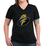 The F-Bomb Women's V-Neck Dark T-Shirt