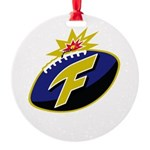 The F-Bomb Round Ornament