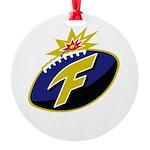 The F-Bomb Round Ornament