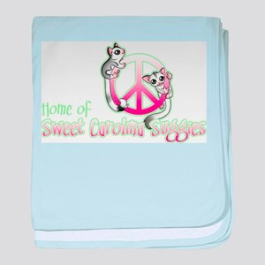 Southern Peace sign Sugar glider's baby blanket