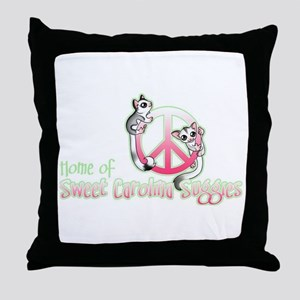 Southern Peace sign Sugar glider's Throw Pillow