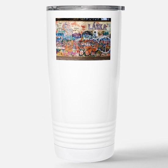 Lennon Wall, Prague - Stainless Steel Travel Mug