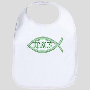 Jesus - Christian Fish Bib