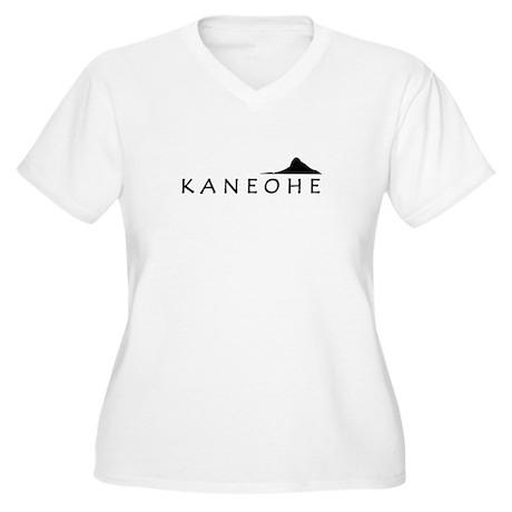 Kaneohe Women's Plus Size V-Neck T-Shirt