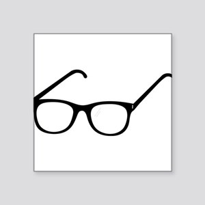 "Eye Glasses Square Sticker 3"" x 3"""