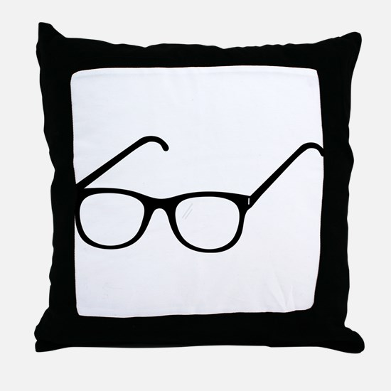 Eye Glasses Throw Pillow