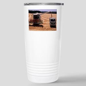 Wheat harvest - Stainless Steel Travel Mug