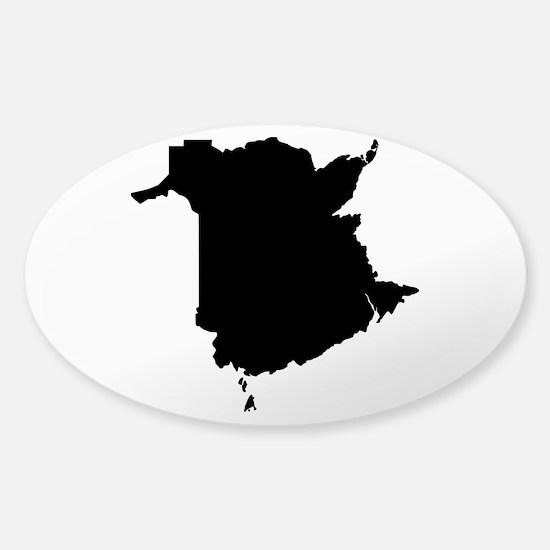Black Sticker (Oval)