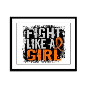 Fight Like a Girl 31.8 Leukemia Framed Panel Print