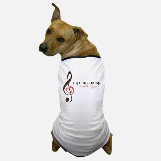 Love The Lyrics Dog T-Shirt
