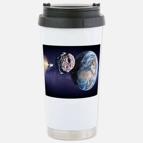 Asteroid deflection - Stainless Steel Travel Mug