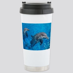 Bottlenose dolphins - Stainless Steel Travel Mug