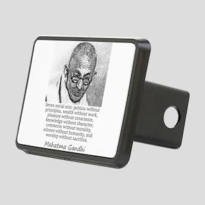 Seven Social Sins - Mahatma Gandhi Hitch Cover