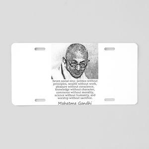 Seven Social Sins - Mahatma Gandhi Aluminum Licens