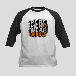 Real Men Leukemia Kids Baseball Jersey