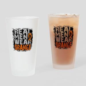 Real Men Leukemia Drinking Glass