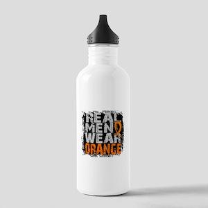 Real Men Leukemia Stainless Water Bottle 1.0L