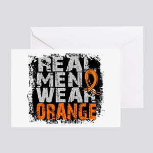 Real Men Leukemia Greeting Card