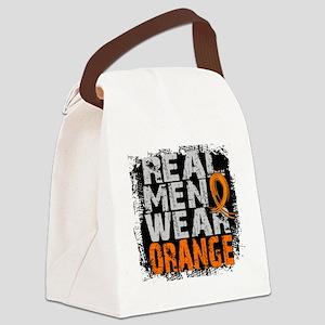 Real Men Leukemia Canvas Lunch Bag
