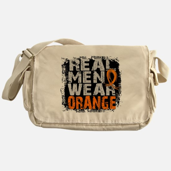 Real Men Leukemia Messenger Bag