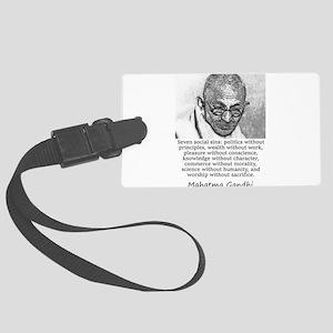 Seven Social Sins - Mahatma Gandhi Luggage Tag