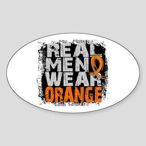 Real Men MS Sticker (Oval)