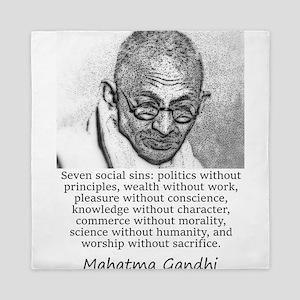 Seven Social Sins - Mahatma Gandhi Queen Duvet
